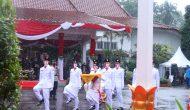 Permalink ke Paskibraka Tetap Semangat Meksi Diguyur Hujan Saat Upacara Penurunan Bendera